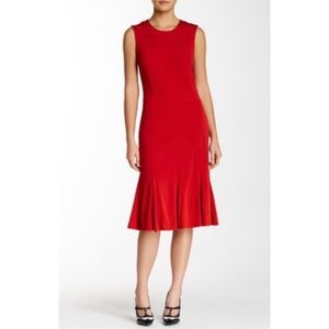 🆕 Tory Burch Deeann Fluted-Hem Dress L